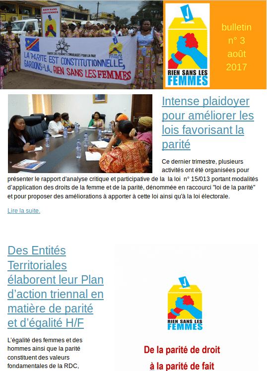 Bulletin n°3 - août 2017