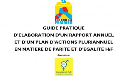 Un guide pratique pour faire progresser la parité et l'égalité F/H