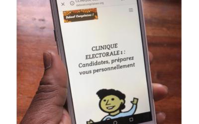 Une Clinique électorale EN LIGNE accessible à toutes les candidates