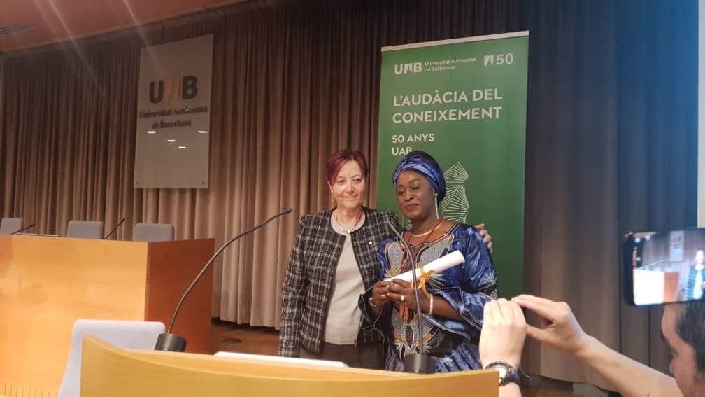 Caddy Adzuba investie docteure honoris causa